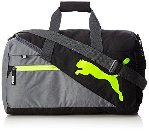 PUMA Fundamentals S Sports Bag, Quiet Shade-Safety Yellow, 47 x 24 x 5 cm image 1