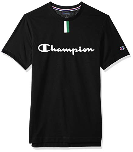 Champion Men's PHYS Ed. YC Tee, Black, Medium image 1