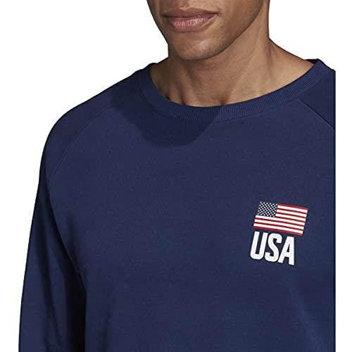 adidas Men's Essentials 3-Stripes Fleece Crew Sweatshirt (Navy Blue, Medium) image https://images.buyr.com/OV18L7E_B98C15E749000A369276B27F491C35440E1BC4ED1E806B496CC5F8F3C65869F2-BGbCjAmSEnO-mr1x1-1DXg.jpg1