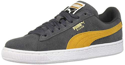 PUMA Men's Suede Classic Sneaker, Iron gate-Buckthorn Brown White, 9 M US image 1