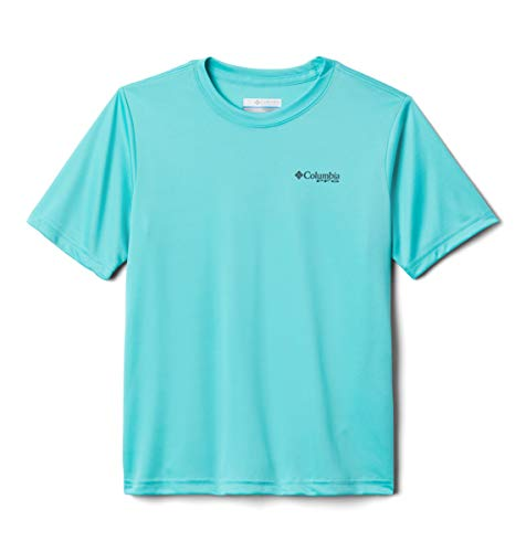 Columbia Youth Boys PFGOffshore Short Sleeve Shirt, Dolphin Tribe Fish Marlin, Medium image 1