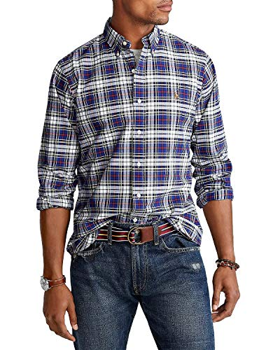 Polo Ralph Lauren Mens Classic Fit Oxford (Navy.Multi, Small) image 1