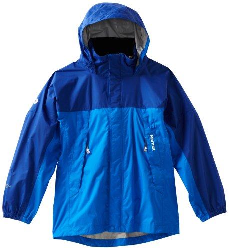 Marmot Boy's Precip Jacket, Cobalt Blue/Royal Navy, X-Small image 1