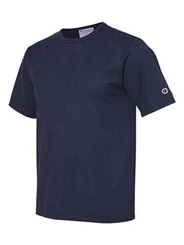Champion Mens Garment Dyed Short Sleeve T-Shirt (CD100) -Navy -L image 1