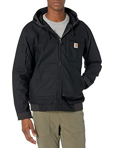 Carhartt Men's Steel Rugged Flex Hooded Active Jac, Black, X-Large image 1