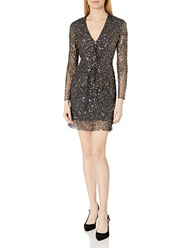 French Connection Women's All Over Sequin Dresses, Pewter, 2 image 1