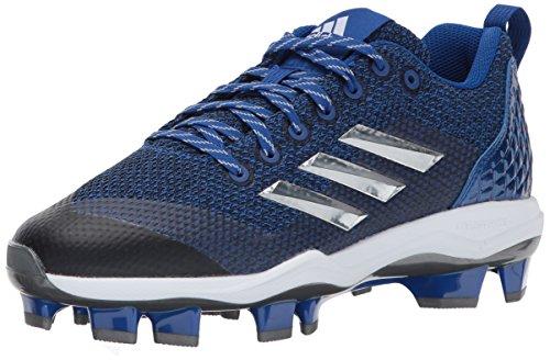 adidas Men's PowerAlley 5 TPU Softball Shoe, Collegiate Royal/Metallic Silver/White, 5 Medium US image 1