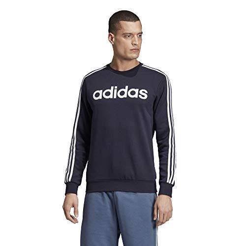 adidas Essentials Men's 3-Stripes Sweatshirt, Legend Ink, Medium image 1