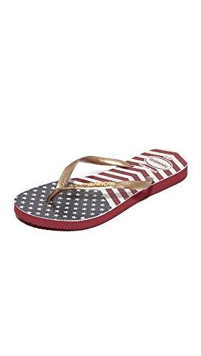 Havaianas Women's Slim Chevron Stars and Stripes Flip Flops image 1