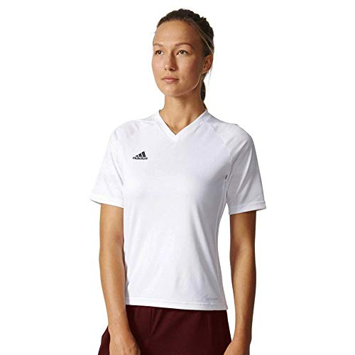 adidas Originals Women's 3-Stripes Tee (Pure White/Black, Small) image 1