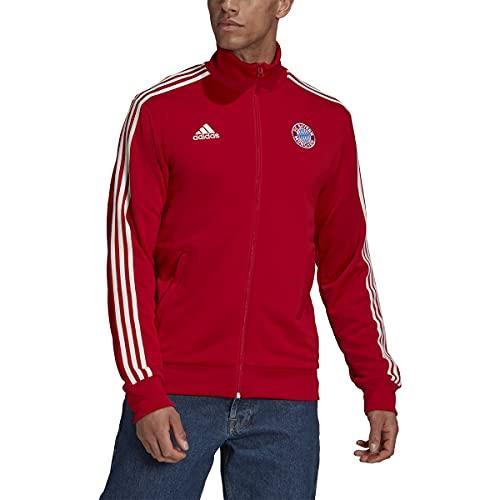 adidas FC Bayern 2021-22 3-Stripes Track Top (FCB True Red, Medium) image 1