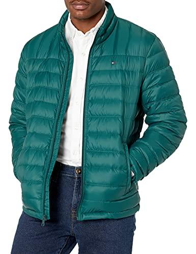 Tommy Hilfiger Men's Packable Down Puffer Jacket, Bottle Green, Medium image 1