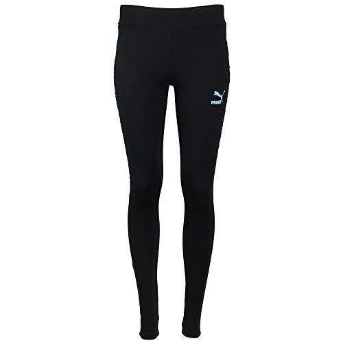PUMA Women's Classics T7 Leggings, Blackwhite-Milky Blue, X-Small image 1