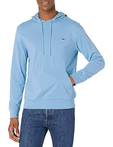 Lacoste Men's Long Sleeve Hooded Jersey Cotton T-Shirt Hoodie, NATTIER Blue 07E, 4XL image 1