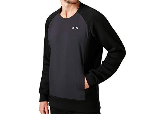 Oakley Men's Enhance Qd Fleece Crew 9.7, Blackout, XL image 1