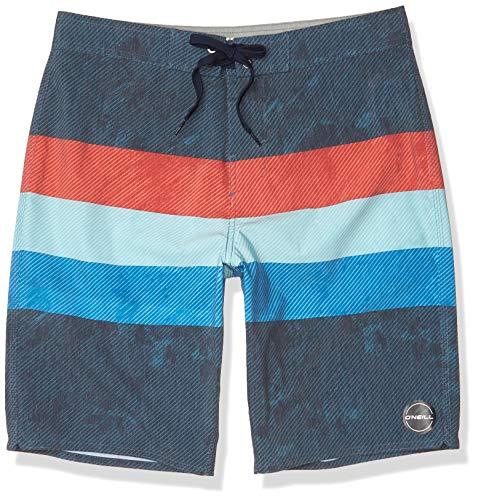 O'NEILL Men's Standard 20 Inch Outseam Ultrasuede Swim Boardshort, Midnight/Freedom, 30 image 1