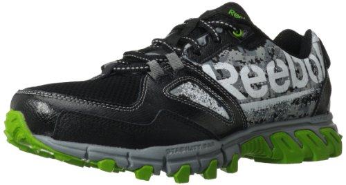 Reebok Men's Trailgrip RS Leather 2.0 Running Shoe,Black/Tin Grey/Smash Green/White/Foggy Grey/Graphic,9.5 M US image 1
