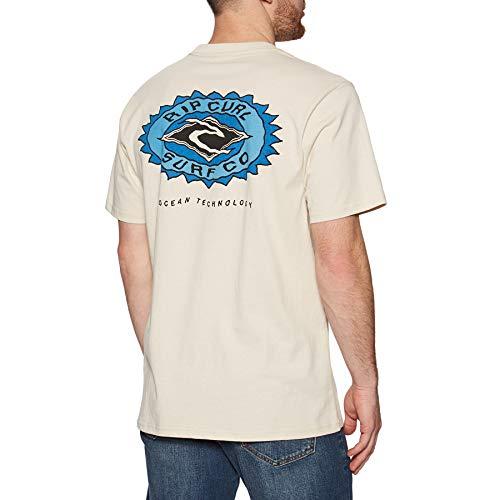 Rip Curl Fadeout Sun Mens Short Sleeve T-Shirt XX Large Bone image 1