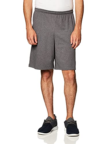 Champion Men's Jersey Short With Pockets, Granite Heather, Small image 1