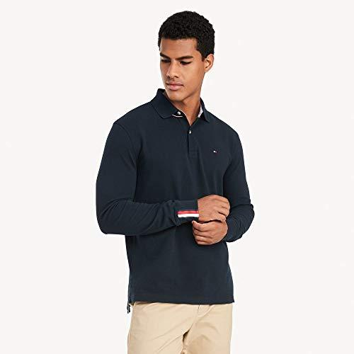 Tommy Hilfiger Men's Regular Long Sleeve Polo Shirt in Classic Fit, Sky Captain Th, Medium image https://images.buyr.com/OV18L7E_EADF71740477019A44E947AD78CE3AE6FCD78A253C05770CD9A36824833EE502-zNOgLN4fpHToWZdQHQ2-dA.jpg1