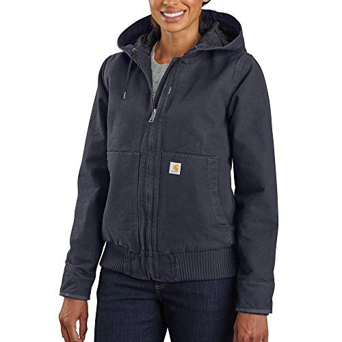 Carhartt Women's Active Jacket WJ130 (Regular and Plus Sizes), Navy, Extra Small image 1