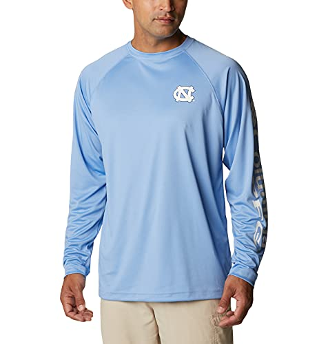 NCAA North Carolina Tar Heels Men's Terminal Tackle Long Sleeve Shirt, 6X Big, NC - White Cap/White image 1