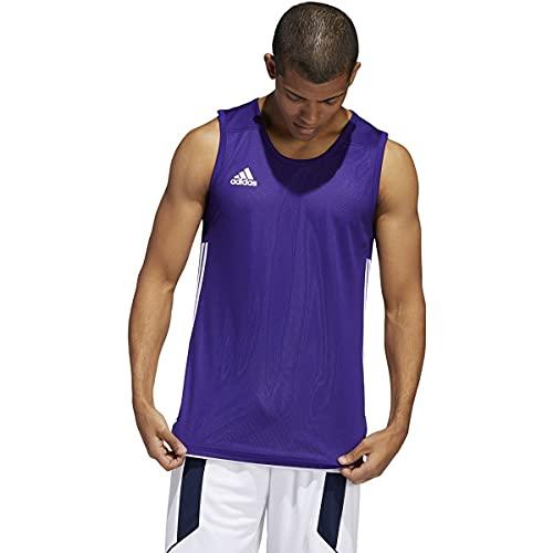 adidas 3G Speed Reversible Jersey-Men's Basketball 4XLT Collegiate Purple/White image 1