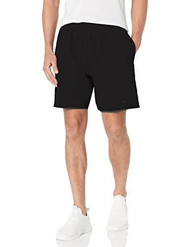 Champion Men's Lightweight Fleece Short, Vintage Dye Black, X-Large image 1