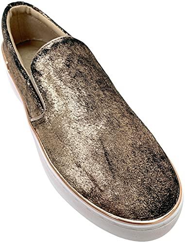 GUESS Women's DEANDA5 Gold Multi Sneaker - 6.5M image 1