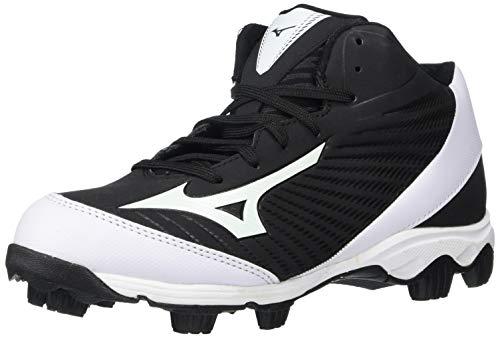 Mizuno Baseball Cleat Baseball Shoe, Black/White, 4.5 Big Kid US image 1