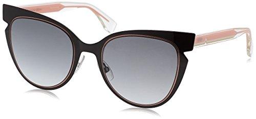 Fendi Women's Cutout Sunglasses, Black Crystal/Grey Gradient, One Size image 1