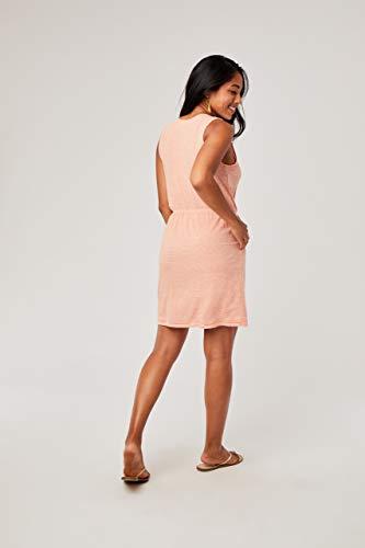 CARVE Designs Women's Kendall Dress, Guava Textured Stripe, LG image https://images.buyr.com/Ofa2U1Dc2cI9lhSKFKndmw.jpg1