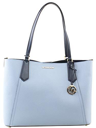 Michael Kors Kimberly Grab Bag Pale Blue Navy image https://images.buyr.com/Omk31HHYQz3uzpVHZdxzDQ.jpg1