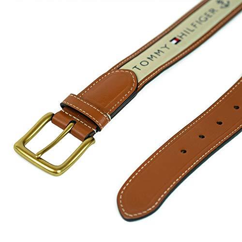 Tommy Hilfiger Men's Ribbon Inlay Belt - Ribbon Fabric Design with Single Prong Buckle, Khaki, 56 image https://images.buyr.com/PWdFcqulgUdRgbuuId8vjA.jpg1