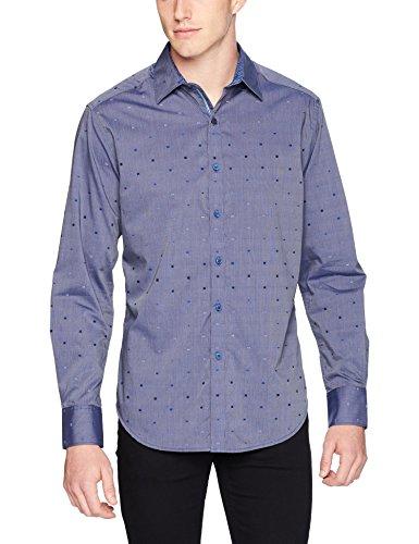 Robert Graham Men's Kerr Long Sleeve Classic FIT Shirt, Navy, Small image 1