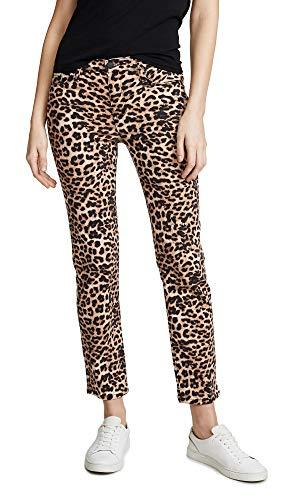 HUDSON Women's Nico Midrise Cigarette Jeans, Classic Leopard, Tan, Print, 26 image 1