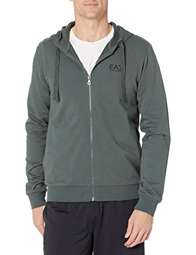 Emporio Armani EA7 Men's Long Sleeve Baby French Terry Zip up Jacket, Urban Chic, XX-Large image 1