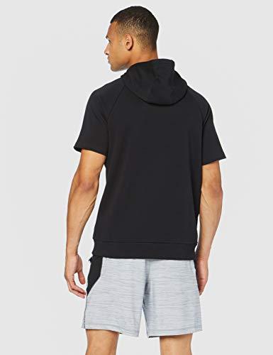 Under Armour Rival Fleece Logo Short-Sleeve Pullover Hoodie, Black (001)/White, Small image https://images.buyr.com/Qezcp5F9_4-AObg0-TsfgA.jpg1