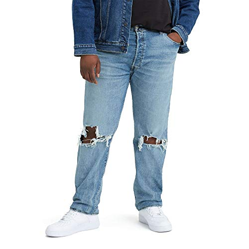 Levi's Men's Big and Tall 501 Original Fit Jean, Righty Lefty Light, 36W x 38L image 1
