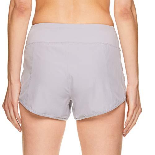 Reebok Women's Athletic Workout Shorts - Gym Training & Running Short - 3 Inch Inseam - Bravo Short Silver Sconce, Large image https://images.buyr.com/SJPsGykEDLWb3glK_MY7Sw.jpg1