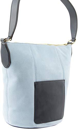 Michael Kors Women's Brooke Medium Suede Shoulder Bag in Light Sky Multi, Style 35T0GOKM8S image 4
