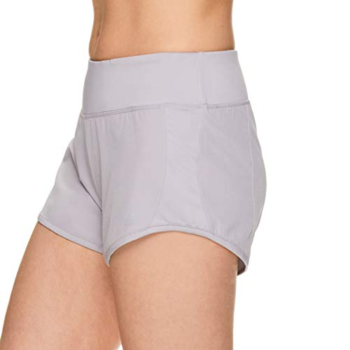 Reebok Women's Athletic Workout Shorts - Gym Training & Running Short - 3 Inch Inseam - Bravo Short Silver Sconce, Large image https://images.buyr.com/UURhFvrvqbPDdLCpRZqfQQ.jpg1