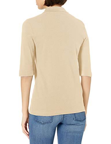 Lacoste Women's 3/4 Sleeve Pique Polo Shirt, SABLER, 10 image https://images.buyr.com/V0aXyOwvwKl52lHAt24OYw.jpg1