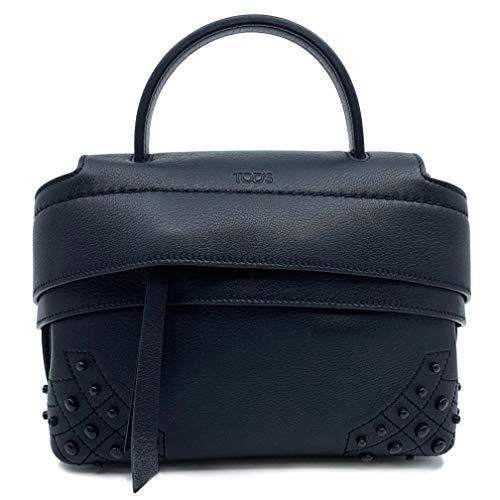 Tod's Wave Micro Gommini Black Leather Ladies Satchel Bag XBWAMRWD001MTI-B999 image 1
