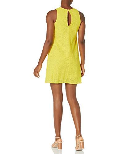 Calvin Klein Women's Sleeveless Round Neck Trapeze Dress, Canary (Eyelet), 2 image https://images.buyr.com/VHMIiekXezfHD05QAMOOOw.jpg1