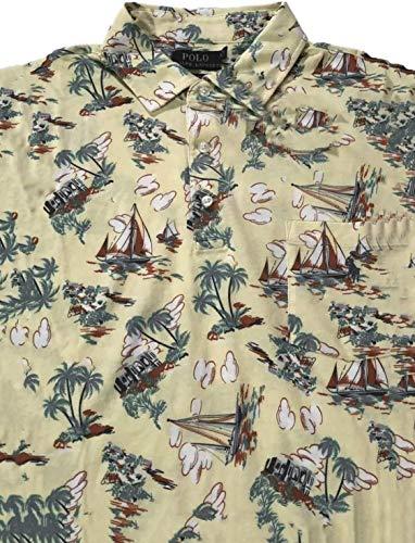 Ralph Lauren Polo Mens St Tropez Cotton Pocket Polo Shirt Yellow image 1