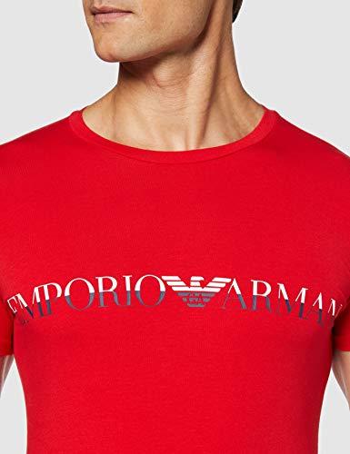 Emporio Armani Men's Megalogo Crew Neck T-Shirt, Red, X-Large image https://images.buyr.com/WceCkBzA38FOk-4lyC8uhA.jpg1