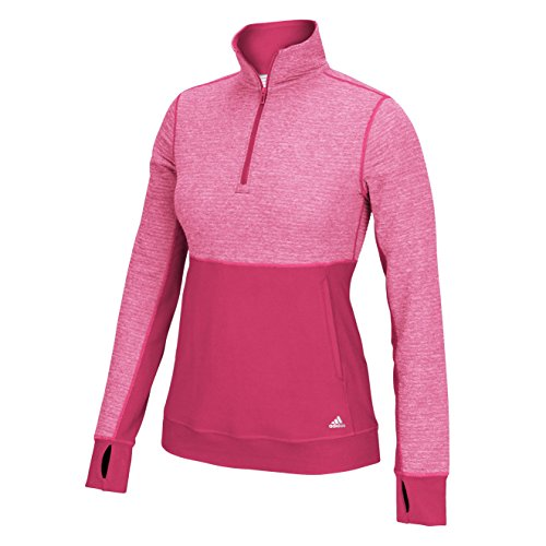 adidas Climalite Twist Womens Half Zip Pullover XS Power Red image 1