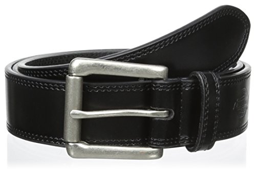 Dickies Men's Big and Tall Leather Classic Casual Belt, Black, 2X (Waist: 46) image 1