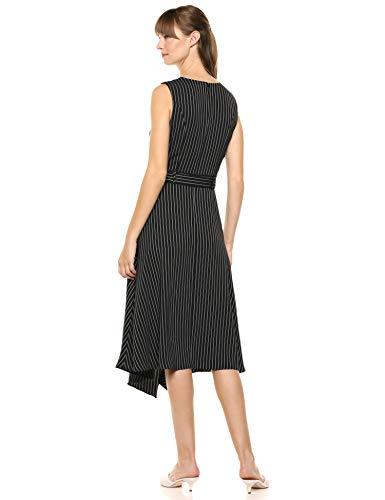 Calvin Klein Women's Belted Dress with Ruffles, Black/White Stripe, 6 image https://images.buyr.com/YcqhGBlHeK-pY__ZdpXdFA.jpg1